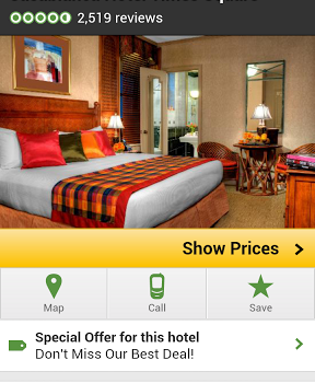 TripAdvisor Android travel app screenshot
