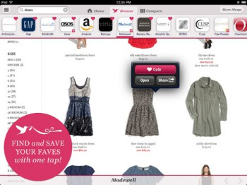 Flit iPad app for shopping