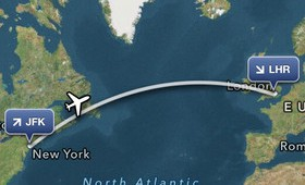 FlightTrack iOS travel app screenshot