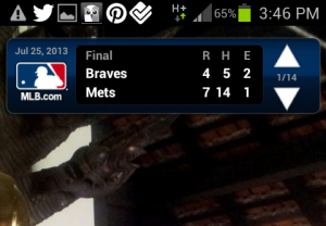 MLB At Bat widget example